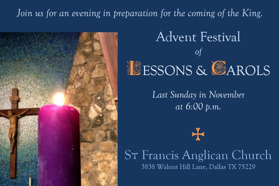 Ad – Nov Lessons and Carols